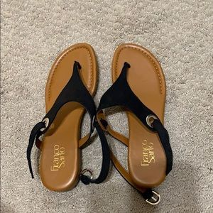 Brand new Black and Tan Sandals